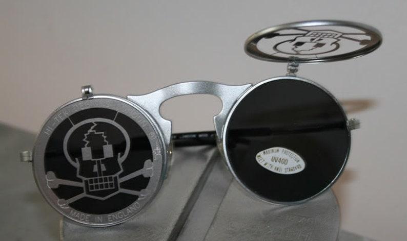 2cdc11037a2 Round sunglasses Steampunk sunglasses unisex flip up silver