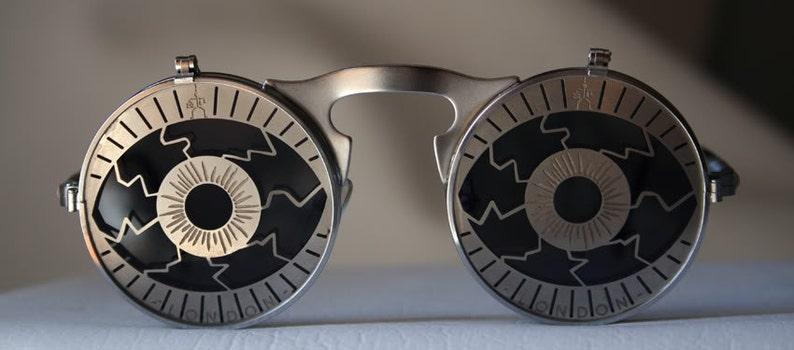 52754c6f609 Round sunglasses Steampunk sunglasses flip ups unisex flip up