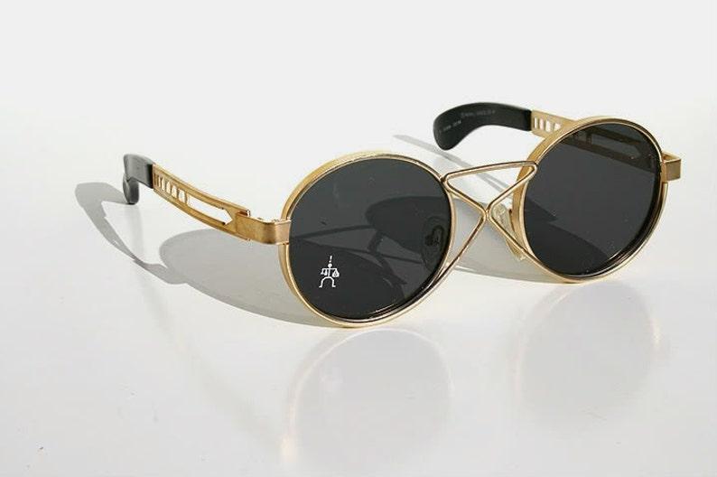 3d50741184 Round sunglasses Steampunk sunglasses gold sunglasses unisex