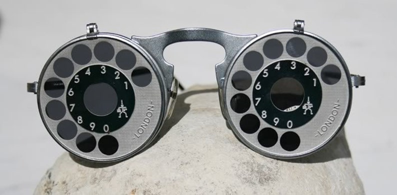 0efa7697e18 Vintage round silver metal sunglasses flup up sunglasses flip