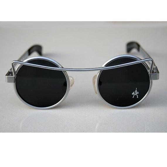 Ronda Steampunk de gafas de sol gafas de sol vintage oro | Etsy