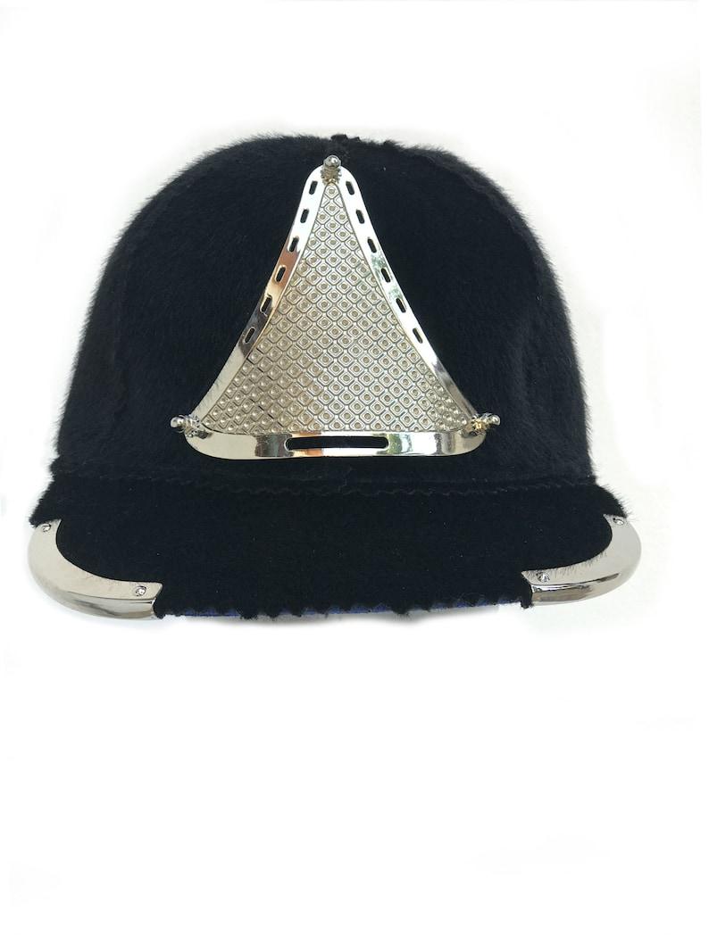 ae62eba2384d Unisex black baseball cap metal triangle shield rapper hip hop | Etsy