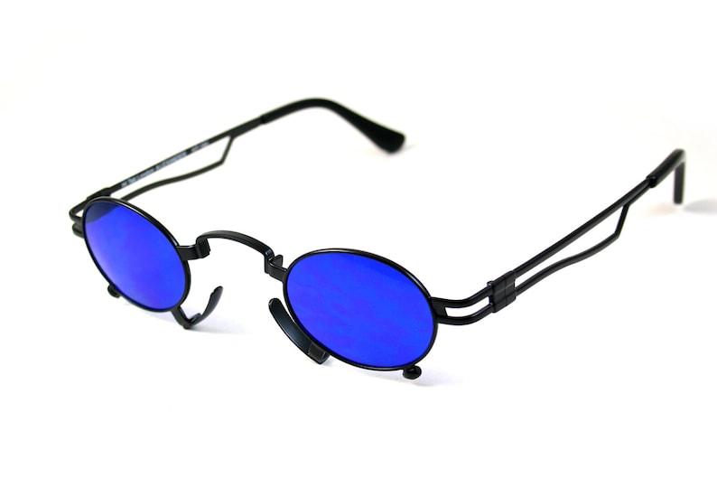 97bc22b5a0 Gafas de sol ovaladas redondas Steampunk gafas de sol Goth | Etsy