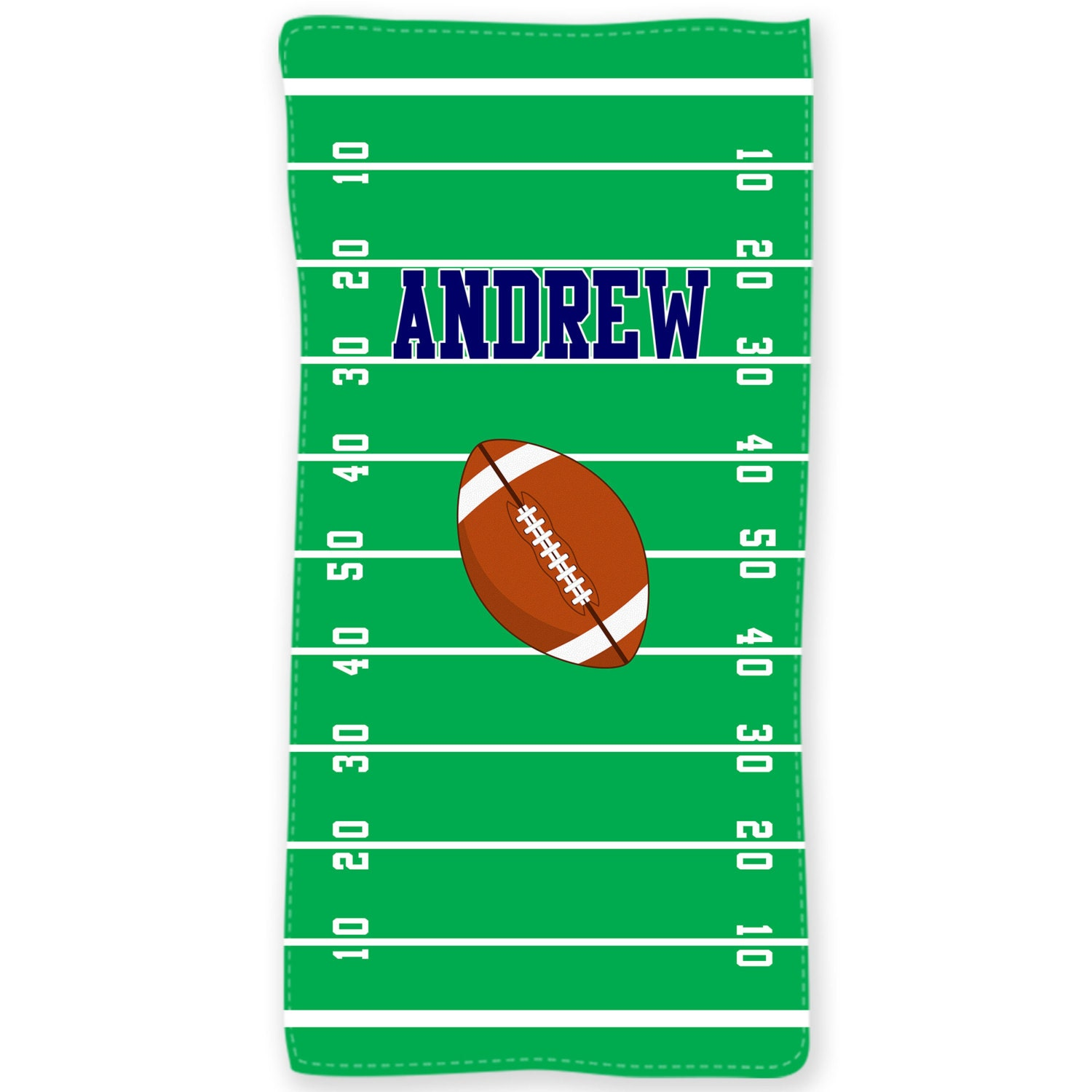 Football Personalized Beach Towel Gridiron Monogrammed