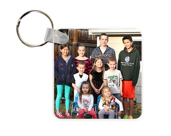 Add Your Photo Personalized Square, Round or Rectangle Key Chain