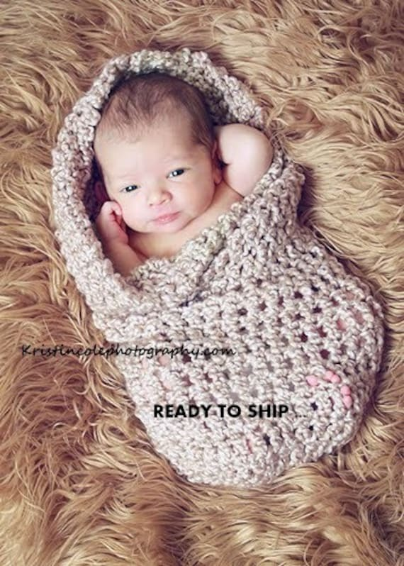 Cocoon Newborn Baby Wrap Photo Prop In Browns Photography Etsy