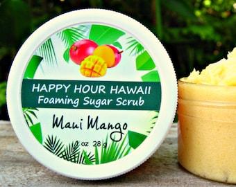 MANGO SUGAR SCRUB, Mini Favor, Foaming Whipped Soap, Hawaiian Favor, Luau Favor, Bridesmaid Gift, Baby Shower Favor. 1.8 oz (51 g).