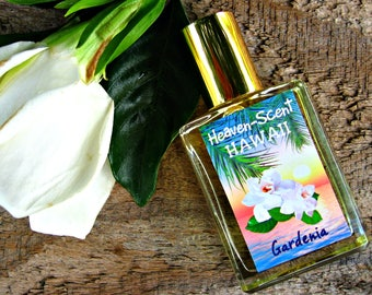 GARDENIA PERFUME. Custom-Blended Roll-on Perfume. Made in Hawaii. 0.5 fl oz (15 ml).