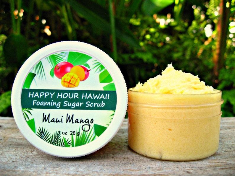 MANGO SUGAR SCRUB Mini Favor Foaming Whipped Soap Hawaiian image 0