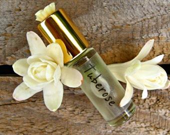 TUBEROSE MINI PERFUME. Custom-Blended Roll-on Perfume. Made in Hawaii. 1/6 fl oz (5 ml).