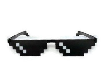 """Meme """"Deal with It"""" Sunglasses - Thug Life - MLG - Functional and Comfortable Sun Glasses for Everyday Wear!"""