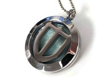 FFXIV Paladin Locket Necklace - Stainless Steel Screw-On Locket - Sturdy and High Quality - 3D - Great for Any Final Fantasy XIV Fan!