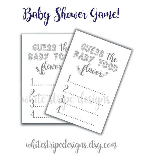 The Game Diy Printable Baby Shower 8 Guess Woodland Food vEa0Zwaqx