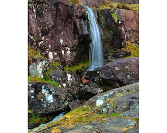"""Fine Art Color Landscape Photography of Waterfall on the Dingle Penninsula in Ireland - """"Dingle Waterfall 2"""""""