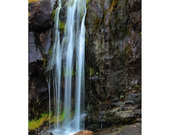 """Fine Art Color Landscape Photography of Waterfall on the Dingle Penninsula in Ireland - """"Dingle Waterfall 1"""""""