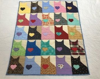 Twenty five Kittens Baby Quilt and/or Wall Hanging