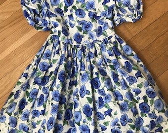 0b15949dd5b Sylvia Whyte Little Girl s Dress Pretty Spring Floral Print Easter Dress  Baby Doll Dress Perfect for a Flower Girl Spring Fashion Size 4