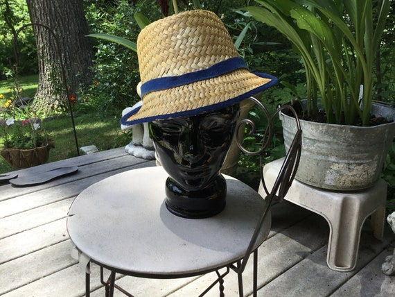 Straw Hat Quirky Straw Hat Tall Fedora Hat Midcen… - image 1
