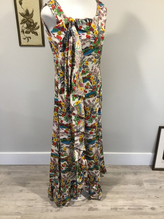 Floral Maxi dress Alice of California Label Bold … - image 1