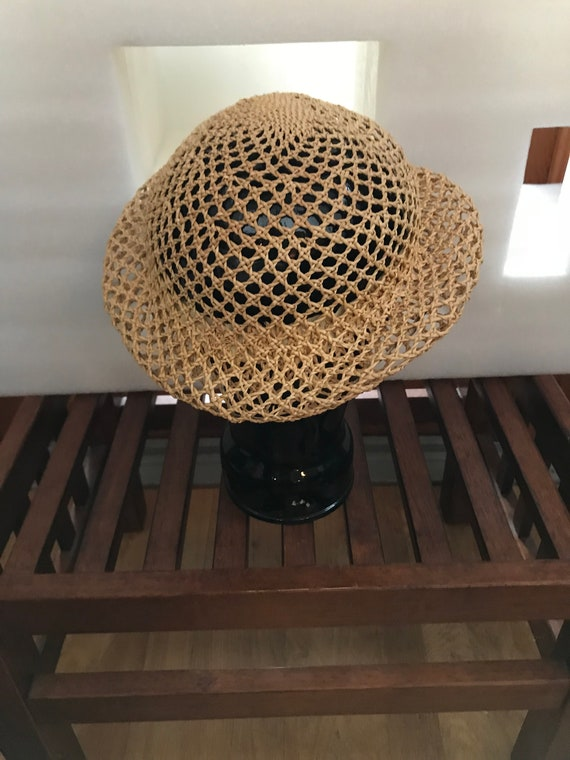 Straw Hat Small Straw Hat Woven Straw Hat FUN Sum… - image 2