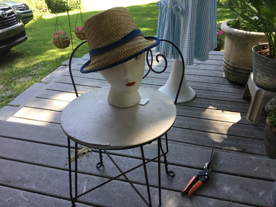 Straw Hat Quirky Straw Hat Tall Fedora Hat Midcen… - image 3