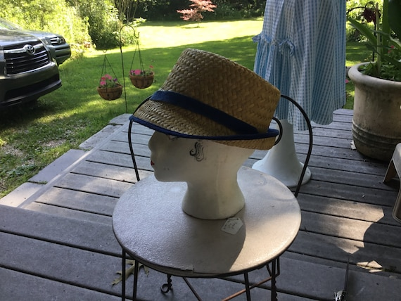 Straw Hat Quirky Straw Hat Tall Fedora Hat Midcen… - image 2