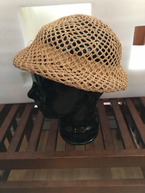 Straw Hat Small Straw Hat Woven Straw Hat FUN Sum… - image 3