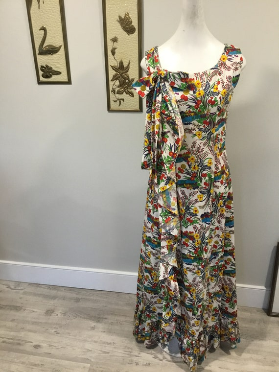 Floral Maxi dress Alice of California Label Bold … - image 3