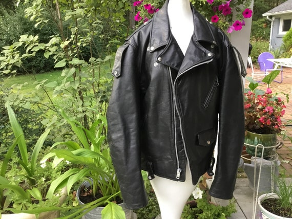 Leather Jacket by WINLET Colorblock Leather 90/'s Hip Hop Look Pop Rock Bomber Style Leather Jacket Primary Geometric