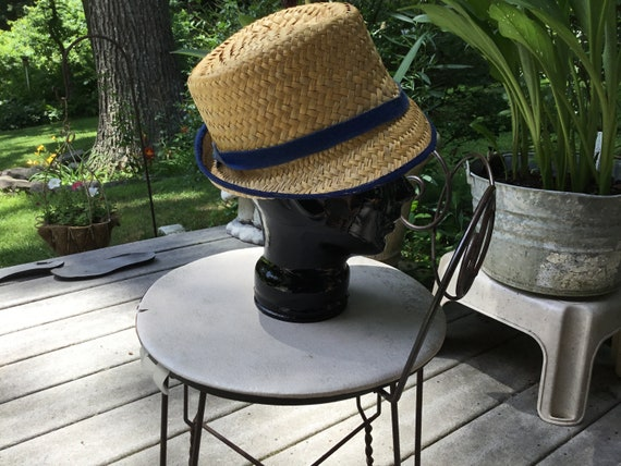 Straw Hat Quirky Straw Hat Tall Fedora Hat Midcen… - image 4