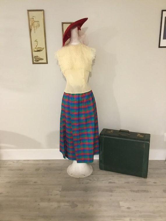 Taffeta Skirt Pretty Plaid Skirt Holiday Fashion R