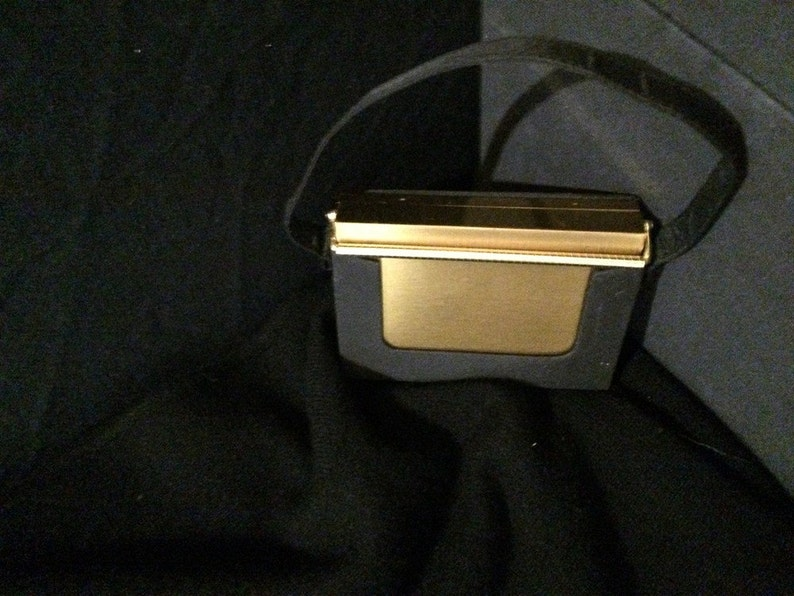Volupte Carryall Purse Powder Compact Mirror and Lipstick Gold Tone Compact and Lipstick Hollywood Regency Compact Collectible