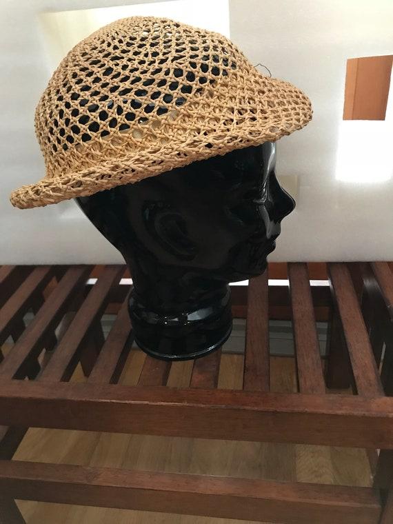 Straw Hat Small Straw Hat Woven Straw Hat FUN Sum… - image 4