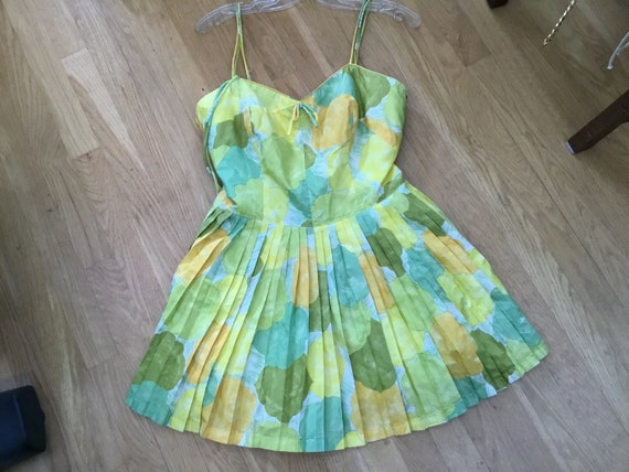 60's GaBar Floral Swimsuit Playsuit Sunsuit Romper