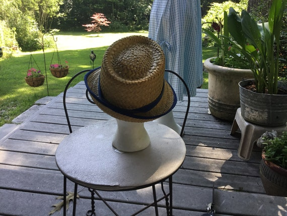 Straw Hat Quirky Straw Hat Tall Fedora Hat Midcen… - image 5