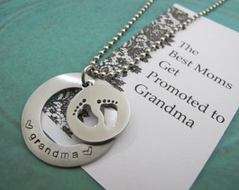 Grandma-to-be Gift, Gift for new grandma, Baby announcement grandparent, The Best Moms Get Promoted To Grandma, Grandma to be quote