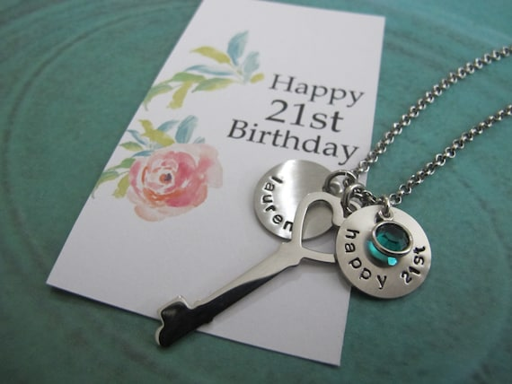 For Her Gift Woman Friend Birthday Personalized 21st