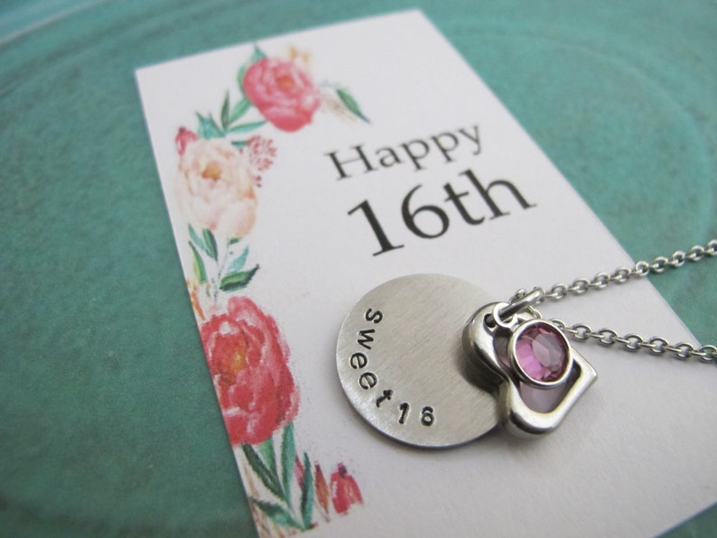For Her 16th Birthday Gift Sweet 16 Necklace