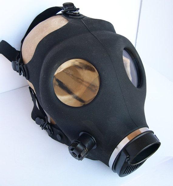 Basic Black STEAMPUNK Full Face Gas Mask-A BURNING MAN