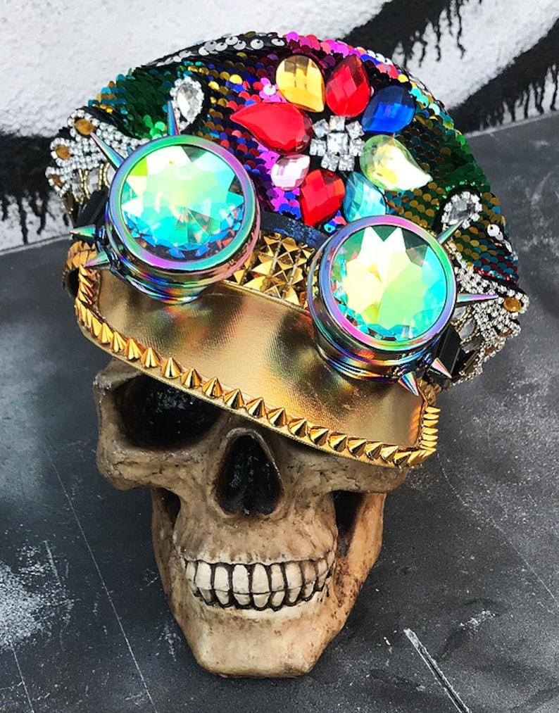 d18ced600249a FESTIVAL PARTY HAT Multicolor Rainbow Unisex Burning Man