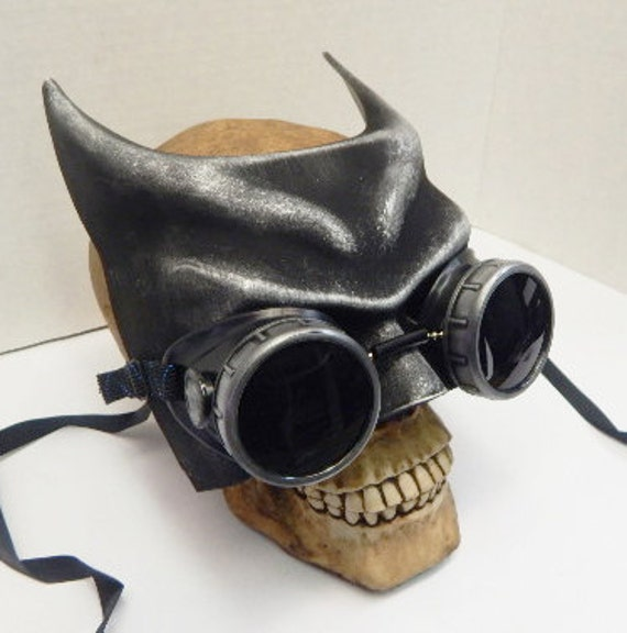 steampunk leather mask,half face distressed made to order
