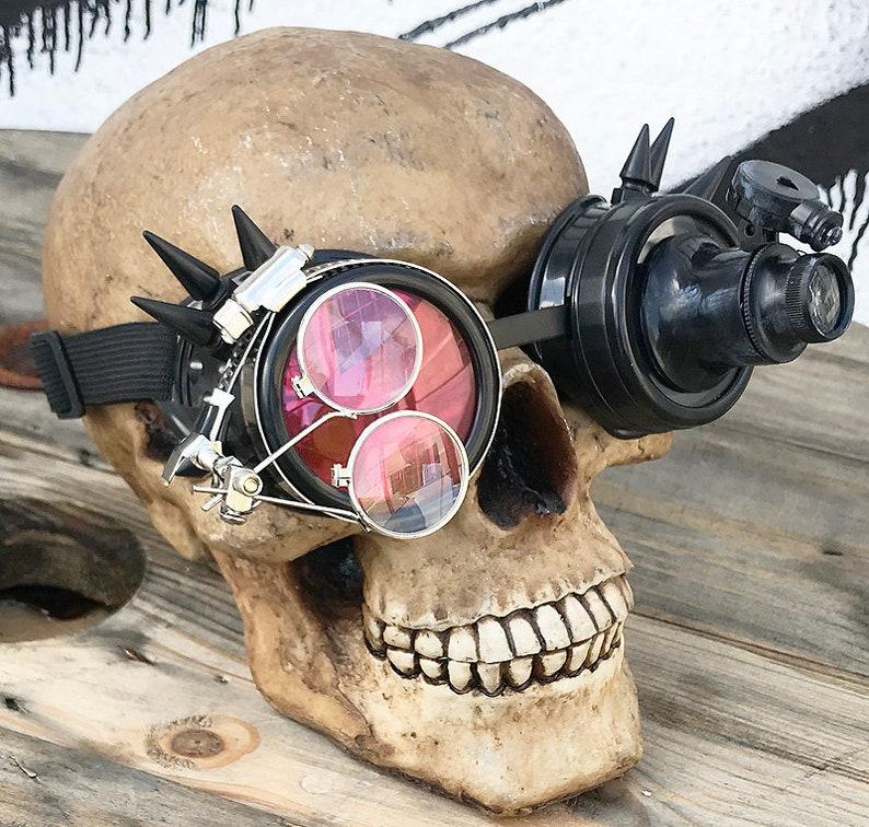 Black Ebony Cyber Steampunk Inspector Gadget Goggles Etsy