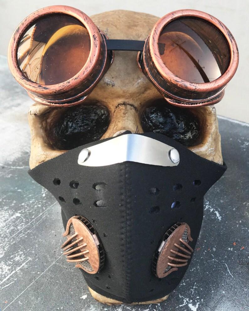 a00ed28c80a46 Lunettes de BURNING MAN spécial cuivre rouille masque et des
