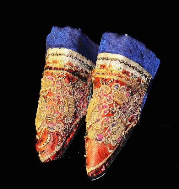 Pequenos Zapatos De Loto Antiguo Para Pies Atados China Etsy