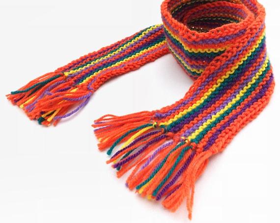 Tangerine Pixie Scarf - Orange Children's Scarf - Unisex Child's Orange Scarf, bright scarves for kids - Orange Colourful Scarves for Kids