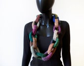 Woodland Chain Infinity Scarf - Rich Brown Infinity Chain Link Scarf - Warm Winter Cowl Mother's Day