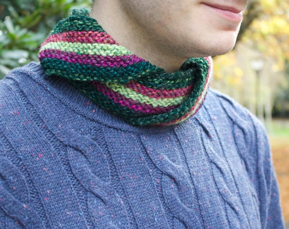 Watermelon Unisex Nuzzler - Colourful Men's Snood Scarf - Unisex Cowl Scarves for Men & Women - Men's Circle Scarves Cowls Infinity Scarves