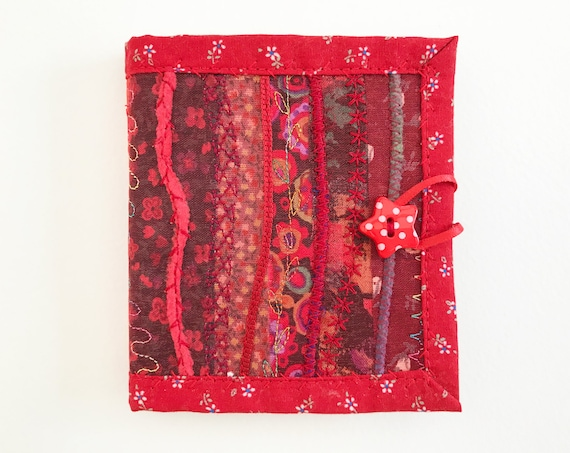 Cranberry Red Needle Book • Crafty gift for a creative someone who likes to sew • Red needlebook for embroidery stitching, sewing & textiles