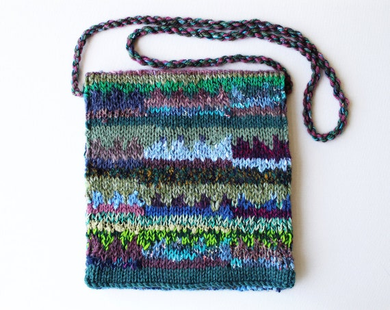 Artichoke Eco Handbag - Beautiful green bag made from up-cycled yarns