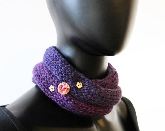 Ladies' Nuzzler - Elderberry - Purple Neckwarmer Autumn Infinity Scarf